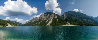 Plansee Lake. Lake Plansee on the border of Austria and Germany Royalty Free Stock Photo