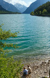 Plansee summer landscape (Austria). Royalty Free Stock Photos
