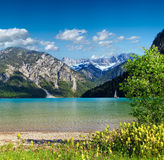 Plansee summer landscape Austria. Royalty Free Stock Images