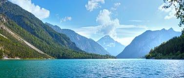 Plansee summer panorama (Austria). Stock Photo