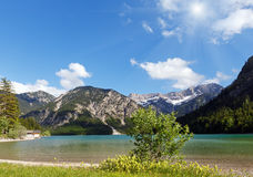 Plansee summer sunshiny landscape Royalty Free Stock Photos