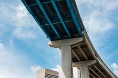 Planskild korsning för mellanstatlig huvudväg Fotografering för Bildbyråer