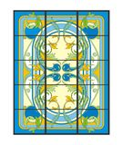 Plant art stained glass black Royalty Free Stock Photography