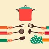 Plant begrepp för att laga mat Royaltyfri Bild