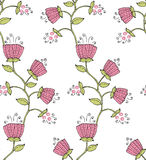 Plant and berry. Seamless floral abstract pattern with stylized plant and berry royalty free illustration