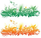 Plant and birds Royalty Free Stock Images