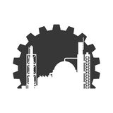 Plant building icon. Industry design. Vector graphic Stock Photography