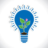 Plant  in bulb Royalty Free Stock Photos