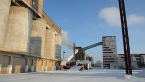 Plant, concrete production plant in the winter season stock footage