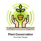 Plant conservation Line Color Icon vector illustration