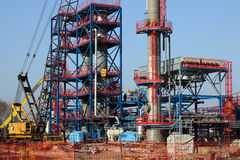 Plant construction site heavy industry Royalty Free Stock Photo