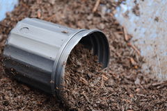 Plant Container. A close up view of a plant container holding soil Royalty Free Stock Photos