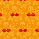 Plant design in orange vintage Royalty Free Stock Photography