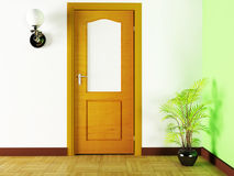 A plant and a door Royalty Free Stock Images