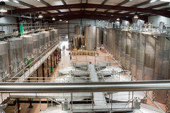 Plant facilities with wine cisterns under temperature control Stock Photography