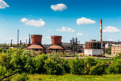 Plant or factory for the production of synthetic rubber. In Efremov, Russia Royalty Free Stock Photos