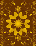 Plant and flower pattern Royalty Free Stock Image