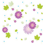 Plant and flowers. Summer decorative modern flowers background Stock Photo
