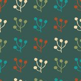 Plant foliage repeat seamless pattern design royalty free illustration