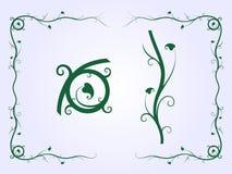 Plant Frame. Ornamental Frame of Plant Shapes • Vector Illustration Royalty Free Stock Photos