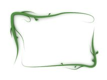 Plant frame. A frame made of curvy plants Stock Photography