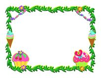 Plant Frame with Sweet Goodies Stock Photography