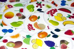 Plant and Fruits Creature Set on White Background royalty free stock photos