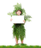 Plant girl on grass Stock Images