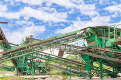Plant for gravel extraction Stock Photography