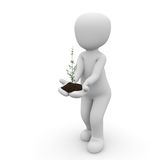 Plant in hand Royalty Free Stock Images