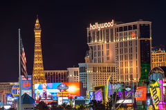Plant Hollywood and Las Vegas Strip Royalty Free Stock Photography