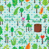 Plant Icon Seamless Pattern Royalty Free Stock Image