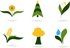 Plant icons Royalty Free Stock Photography