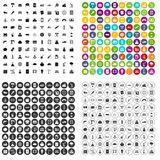 100 plant icons set vector variant. 100 plant icons set vector in 4 variant for any web design isolated on white Royalty Free Illustration