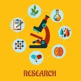 Plant infographic för forskning Arkivbild