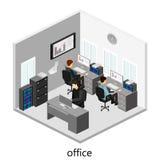 Plant isometriskt abstrakt för golvinre för kontor 3d begrepp för avdelningar Royaltyfri Fotografi