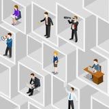 Plant isometriskt begrepp för mångfald för folk för affär 3d yrkesmässigt Arkivbild