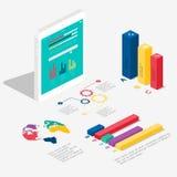 Plant isometriskt infographic 3d för dina affärspresentationer Arkivbild