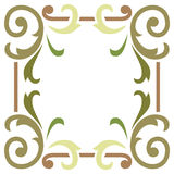Plant leaf border frame Royalty Free Stock Image