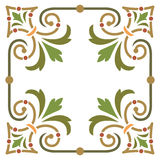 Plant leaf border frame Stock Photos