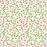 Colorful flower seamless pattern vector on a white background Royalty Free Stock Photo