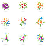 Plant like logos. Graphic design elements and plant like logos stock illustration