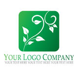 Plant logo. Green logo, abstract illustration with plant background Stock Photo