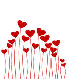 Plant love. Plant in the form of red heart. A vector illustration Royalty Free Stock Image