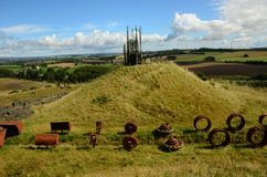 Plant Machinery Parts - Regeneration of Former Opencast Site Royalty Free Stock Image