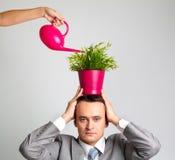 Plant man Stock Image