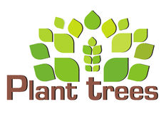 Plant more trees stock illustration