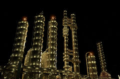 The  plant at night. Royalty Free Stock Photo