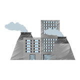 Plant nuclear and factory building Stock Images
