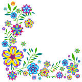 Plant pattern with flowers and leaves Stock Photo